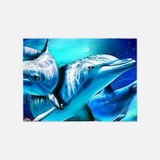 Dolphins 5'x7'Area Rug