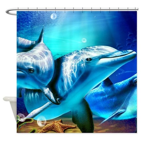 Nice Dolphins Shower Curtain