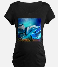 Dolphins Maternity T-Shirt