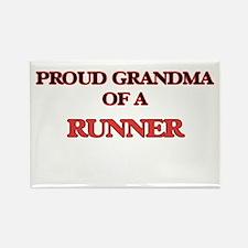 Proud Grandma of a Runner Magnets