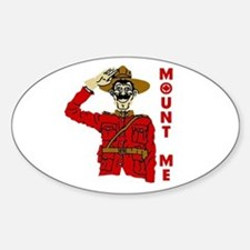Mount Me Oval Bumper Stickers