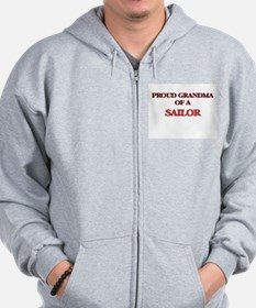 Proud Grandma of a Sailor Zip Hoodie