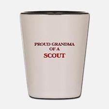 Proud Grandma of a Scout Shot Glass