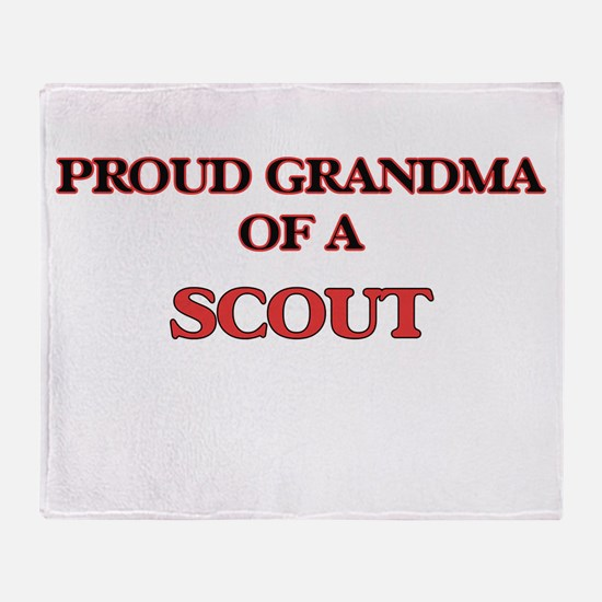 Proud Grandma of a Scout Throw Blanket