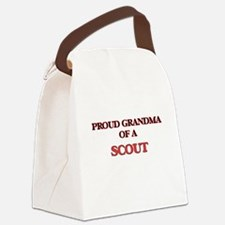 Proud Grandma of a Scout Canvas Lunch Bag
