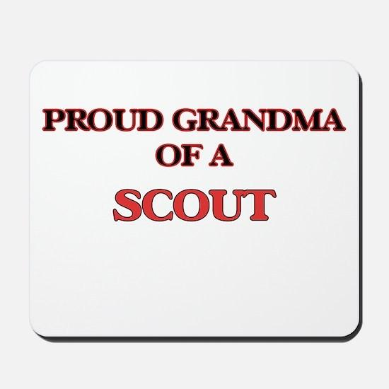 Proud Grandma of a Scout Mousepad