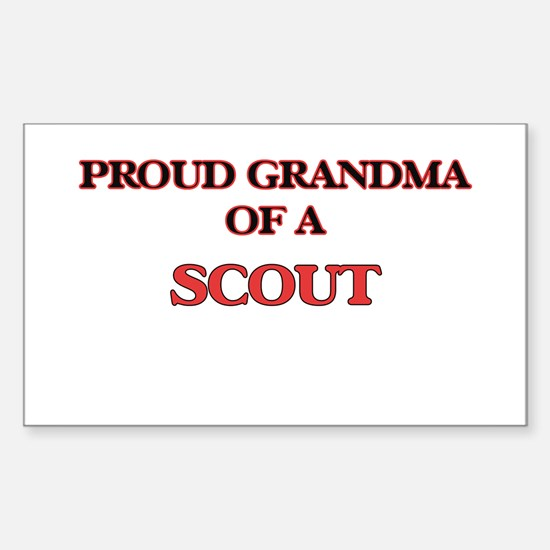 Proud Grandma of a Scout Decal