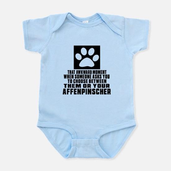 Affenpinscher Awkward Dog Designs Infant Bodysuit