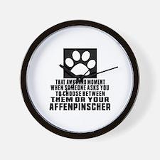 Affenpinscher Awkward Dog Designs Wall Clock