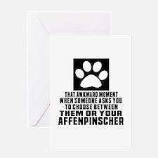 Affenpinscher Awkward Dog Designs Greeting Card