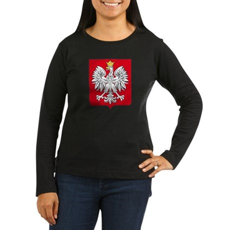 Poland Arms Women 39 S Long Sleeve Dark T Shirt Poland Arms T