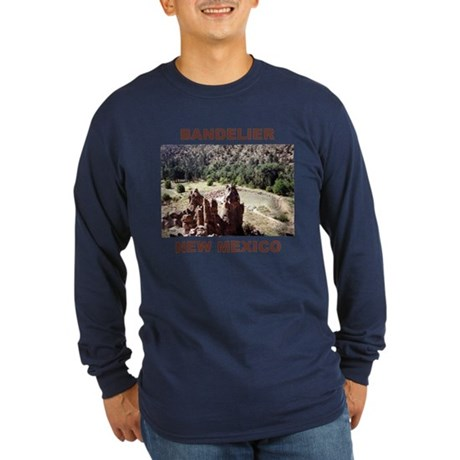 BANDELIER, NEW MEXICO Long Sleeve Dark T-Shirt
