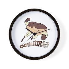 Donut Man Wall Clock