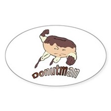 Donut Man Oval Decal