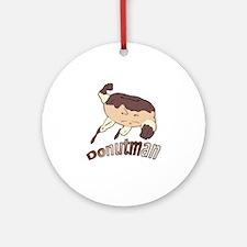 Donut Man Ornament (Round)