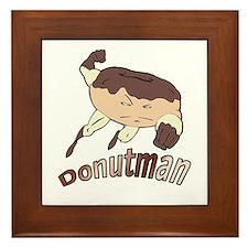 Donut Man Framed Tile
