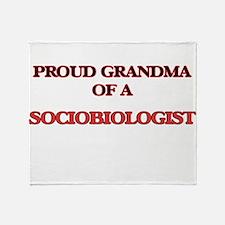 Proud Grandma of a Sociobiologist Throw Blanket