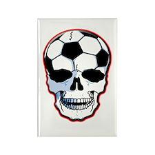 Soccer Head Rectangle Magnet