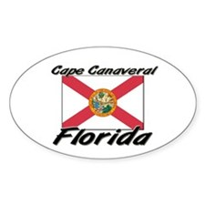 Cape Canaveral Florida Oval Decal