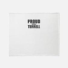 Proud to be TERRAZAS Throw Blanket