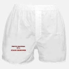 Proud Grandma of a Stage Designer Boxer Shorts