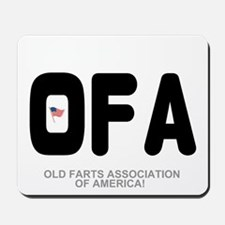 OLD FARTS ASSOCIATION OF AMERICA Mousepad
