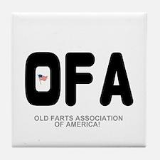 OLD FARTS ASSOCIATION OF AMERICA Tile Coaster