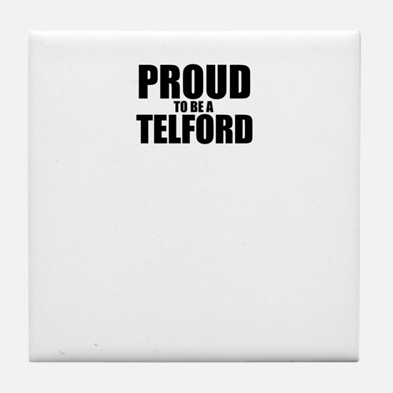 Proud to be TEETS Tile Coaster