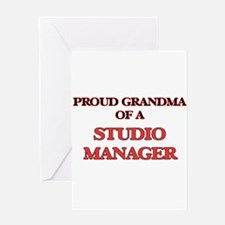 Proud Grandma of a Studio Manager Greeting Cards