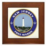 New Jersey Freemason Framed Tile
