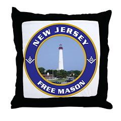 New Jersey Freemason Throw Pillow