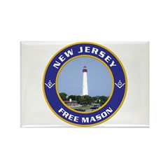 New Jersey Freemason Rectangle Magnet (10 pack)