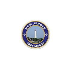 New Jersey Freemason Mini Button