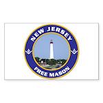 New Jersey Freemason Rectangle Sticker