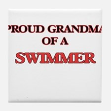 Proud Grandma of a Swimmer Tile Coaster