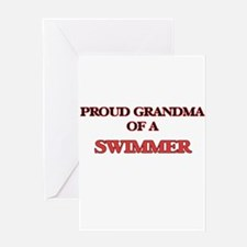 Proud Grandma of a Swimmer Greeting Cards