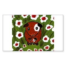 GUINEA PIG~PeekABoo~LilyKo.com Sticker (Rectangula
