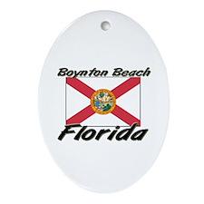 Boynton Beach Florida Oval Ornament