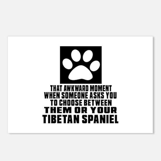 Tibetan Spaniel Awkward D Postcards (Package of 8)