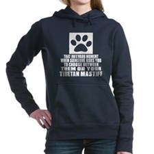 Tibetan Mastiff Awkward Women's Hooded Sweatshirt