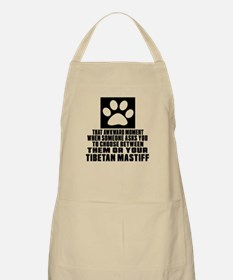 Tibetan Mastiff Awkward Dog Designs Apron