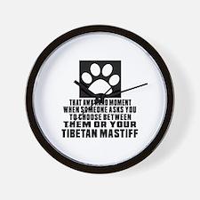Tibetan Mastiff Awkward Dog Designs Wall Clock