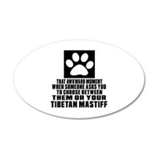 Tibetan Mastiff Awkward Dog Wall Decal