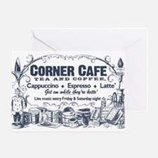 Vintage Coffee Advertisement Greeting Card