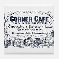 Vintage Coffee Advertisement Tile Coaster