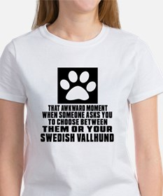 Swedish Vallhund Awkward Dog Desig Women's T-Shirt