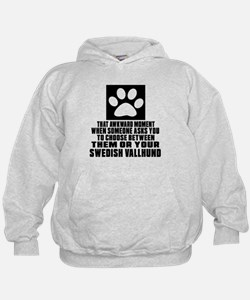 Swedish Vallhund Awkward Dog Designs Hoodie