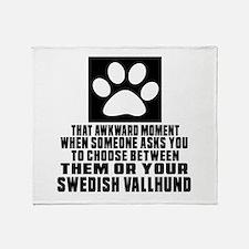 Swedish Vallhund Awkward Dog Designs Throw Blanket