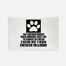 Swedish Vallhund Awkward Dog Desi Rectangle Magnet