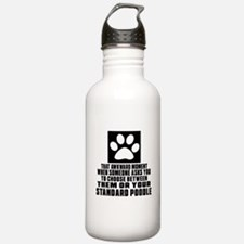 Standard Poodle Awkwar Water Bottle